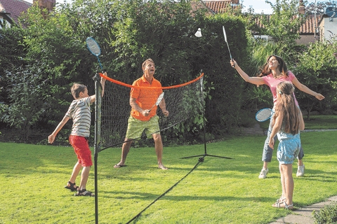 Traditional Garden Games Badminton Volleyball & Tennis Play 5m Net