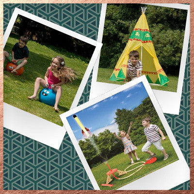 Bundle - Space Hopper, Teepee Play Tent, Junior Pop Rocket Launcher Set