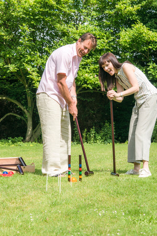 Traditional Garden Games Royal York Croquet Set