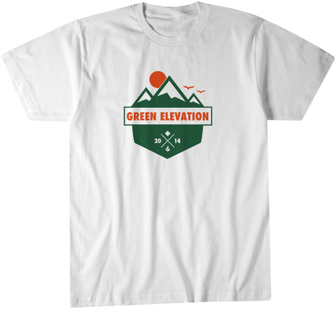 Green Elevation T Shirt White