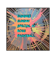 Summer Sunday Special At Boss Paintball
