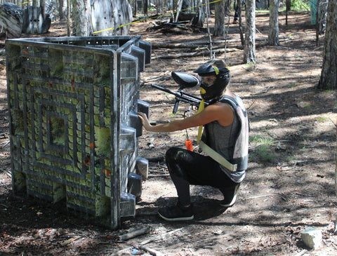 girl playing paintball in charlotte nc