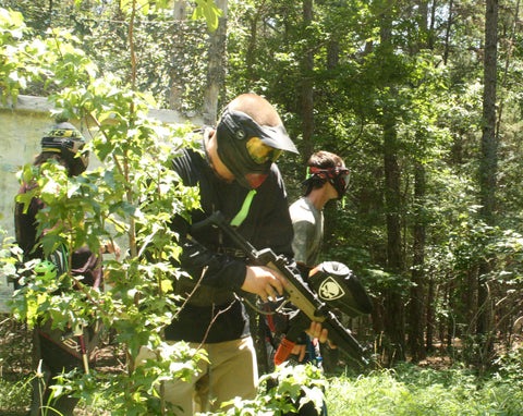 setting up the ambush at the castle boss paintball fields locust nc