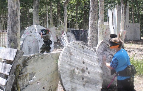 teenagers playing paintball in north carolina near charlotte