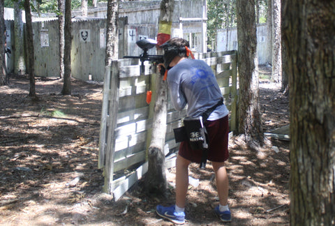 shooting a paintball gun at boss paintball near albemarle nc