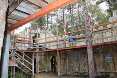 Boss Paintball Castle Doors during Woods ball game north carolina versus south carolina King of the Castle