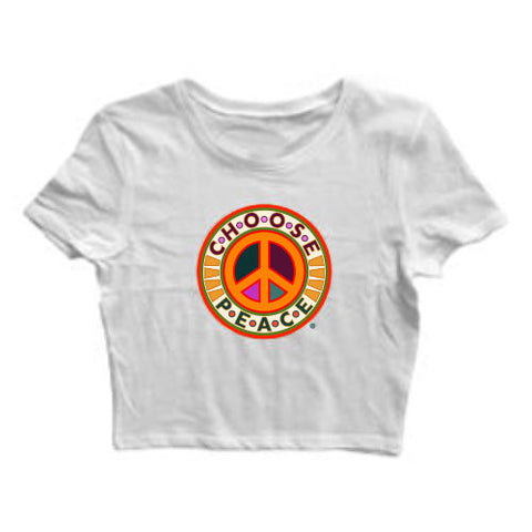 """CHOOSE PEACE"" CROP TOP"