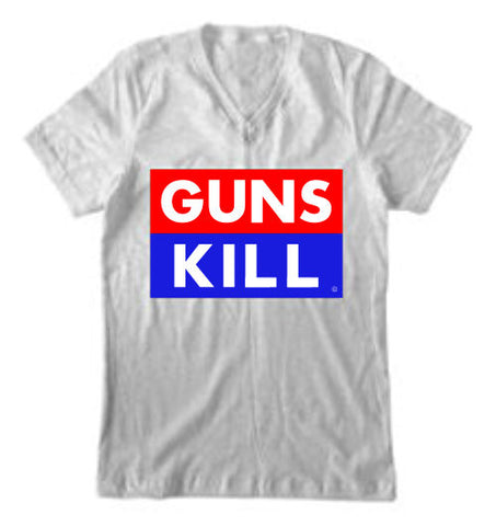 """GUNS KILL"" V-NECK"
