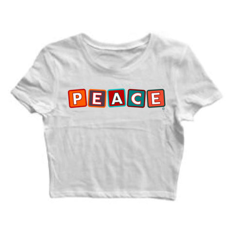 """PEACE"" CROP TOP"