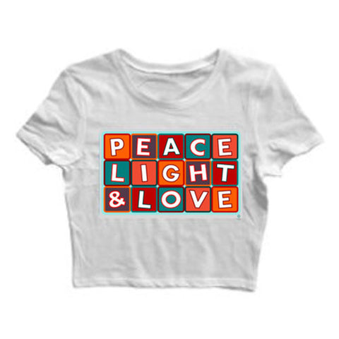 """PEACE LIGHT & LOVE"" CROP TOP"