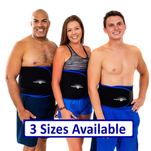 Waist Trimmer Sauna Belt<br/>To Lose Belly Fat<br/> <ul><li>Burn Belly Fat Fast</li><li>Comfortable, Contoured Fit</li><li>Waist Trainer Compression</li></ul>