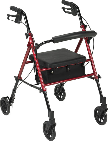 "Drive Adjustable Height Rollator, 6"" Casters"