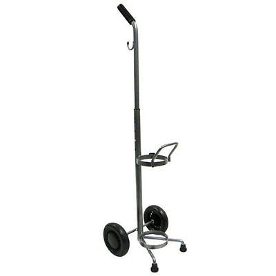 Rolling 2 Two Wheel Oxygen Tank Cylinder Cart Carrier - Holds One D or E Cylinder - Home Health Superstore