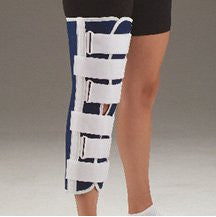 DeRoyal Hospital Grade Knee Immobilizer, 19IN * Blue Canvas w/T-Beam, M * 1 Per EA STAT ™ Brand 1120197