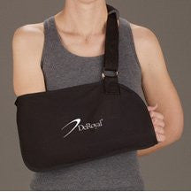 DeRoyal Hospital Grade Arm Sling, Specialty * Black, w/ Pad, S * 1 Per EA STAT ™ Brand 11690005 - Home Health Superstore