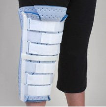 DeRoyal Hospital Grade Knee Immobilizer, Tri-Panel * 24IN, 40IN Circ, Blue Foam * 1 Per EA STAT ™ Brand 7091-16 - Home Health Superstore