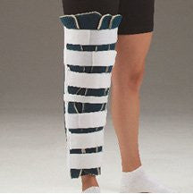DeRoyal Hospital Grade Knee Immobilizer, Tri-Panel * 22IN, Cool Blue Foam * 1 Per EA STAT ™ Brand 7091-06 - Home Health Superstore