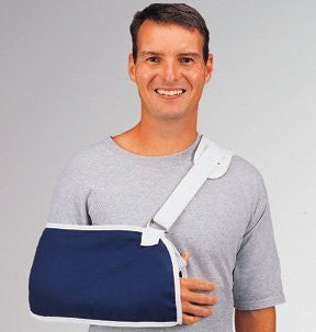 DeRoyal Hospital Grade Arm Sling, Specialty * Navy Canvas, w/Pad, L * 1 Per EA STAT ™ Brand 8004-05 - Home Health Superstore