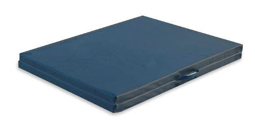 Exercise Mat W/Handles Grey Center-Fold 5' x 7' x 2
