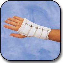 "DeRoyal Hospital Grade Wrist Splint,Cock-up,Canvas,6"" * D-Ring Closure, Left, XL * 1 Per EA STAT ™ Brand 5058-10 - Home Health Superstore"