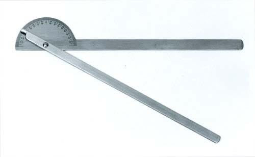 "Stainless Steel 14"" Goniometer 180 Degees X 5 Degees"