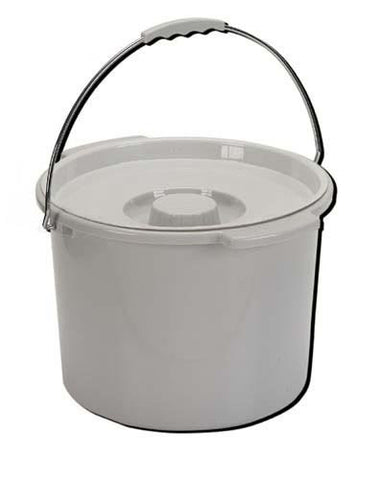 Commode Pail With Lid 12 Quart - Home Health Superstore