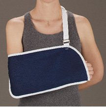 DeRoyal Hospital Grade Arm Sling, Envelope * Blue Canvas, w/Pad, M * 1 Per EA STAT ™ Brand 8001-03 - Home Health Superstore