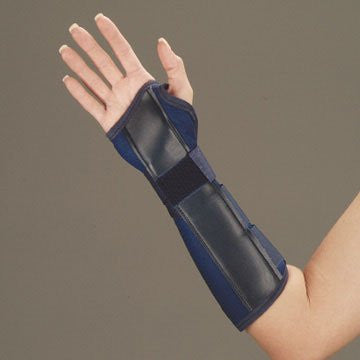 "DeRoyal Hospital Grade Wrist/Forearm Splint, Canvas * 10"", Blue, Hook & Loop, Left, L * 1 Per EA STAT ™ Brand 1090025"