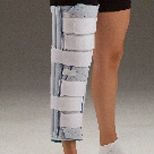 DeRoyal Hospital Grade Knee Immobilizer, Cutaway * 12IN, Blue Foam, Contoured * 1 Per EA STAT ™ Brand 7041-11 - Home Health Superstore