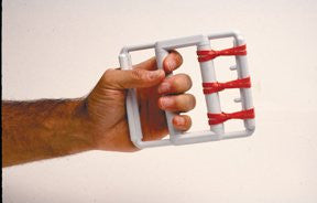 Cando Hand Exercise Set - Unit with 5 Latex Bands - Red - Light, Item- 10-0800