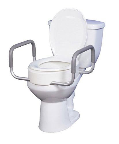 Elevated Toilet Seat with RemArms For Regular Toilet Seat T/F KD
