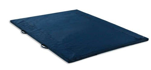 "Exercise Mat 2"" Thick Navy W/Handles Non-Folding 5' X 7'"