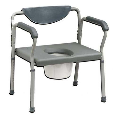 Oversized Commode Deluxe 650# Weight Capacity - Home Health Superstore