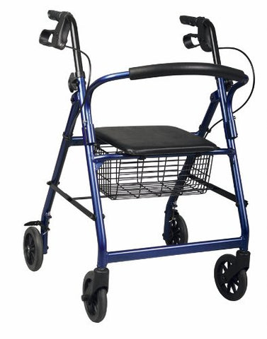 Lumex Walkabout Lite Four-Wheel Rollator - 14.5 lbs