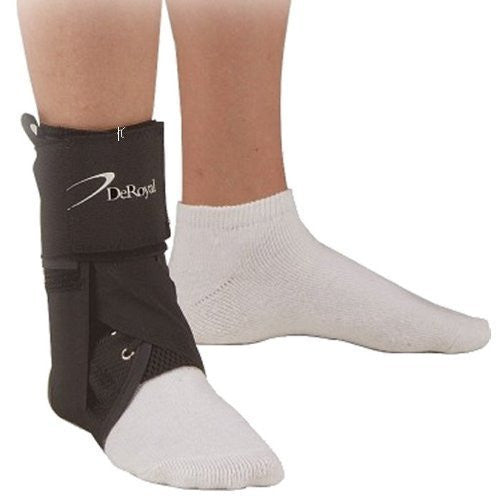 DeRoyal Hospital Grade Ankle Brace, DSAB2 * Nylon, Lace-Up, Univ, S * 1 Per EA Three-D ™ Brand 15600005 - Home Health Superstore