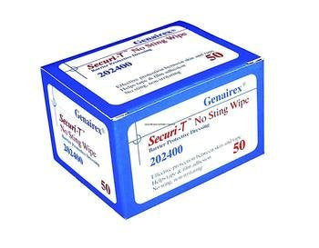 >Securi-t no sting wipes. Securi - T No Sting Wipe Barrier Protective Dressing