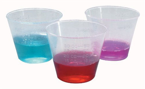 ^Medicine Cups - Plastic, 1 oz. Min.Order is 1 CS ( 50 Pack / Case; 50 Tube / Case; 5,000 Each / Case; )