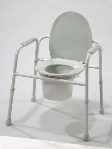 Commode - 3 In 1 Deluxe Steel Powder Coated