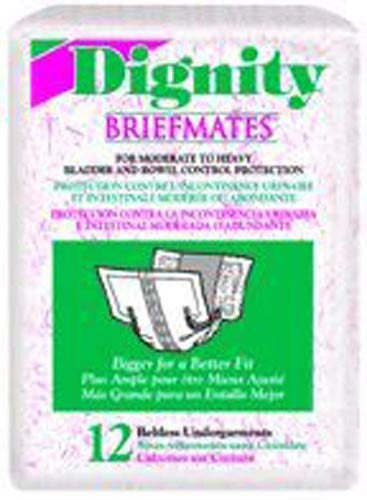 Dignity Brief Mates Under Guards - Beltless (Bag of 12)