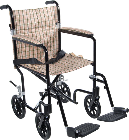 Deluxe Fly-Weight Aluminum Transport Chair