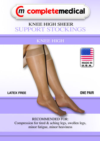 Ladies' Sheer Moderate Supprt, 15-20mmHg, Knee Highs