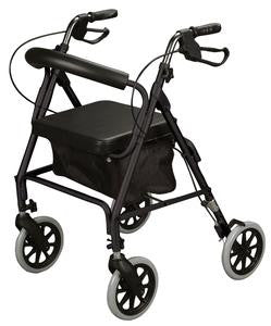 Rollator, soft seat, 300 lb weight capacity