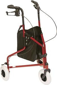 Professional Medical Imports 3 Wheeled Rollator Red