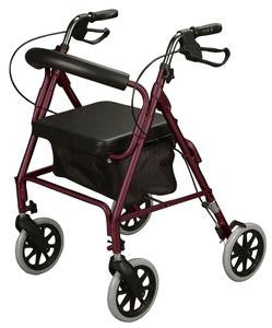 Basic Rollator - Available in Burgundy, Blue, Black or Green