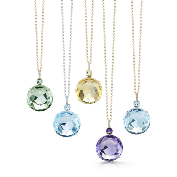A-FURST-LILIES-5-PENDANT-NECKLACES-PRASIOLITE-BLUE-TOPAZ-CITRINE-AMETHYST-BLUE-TOPAZ-DIAMONDS