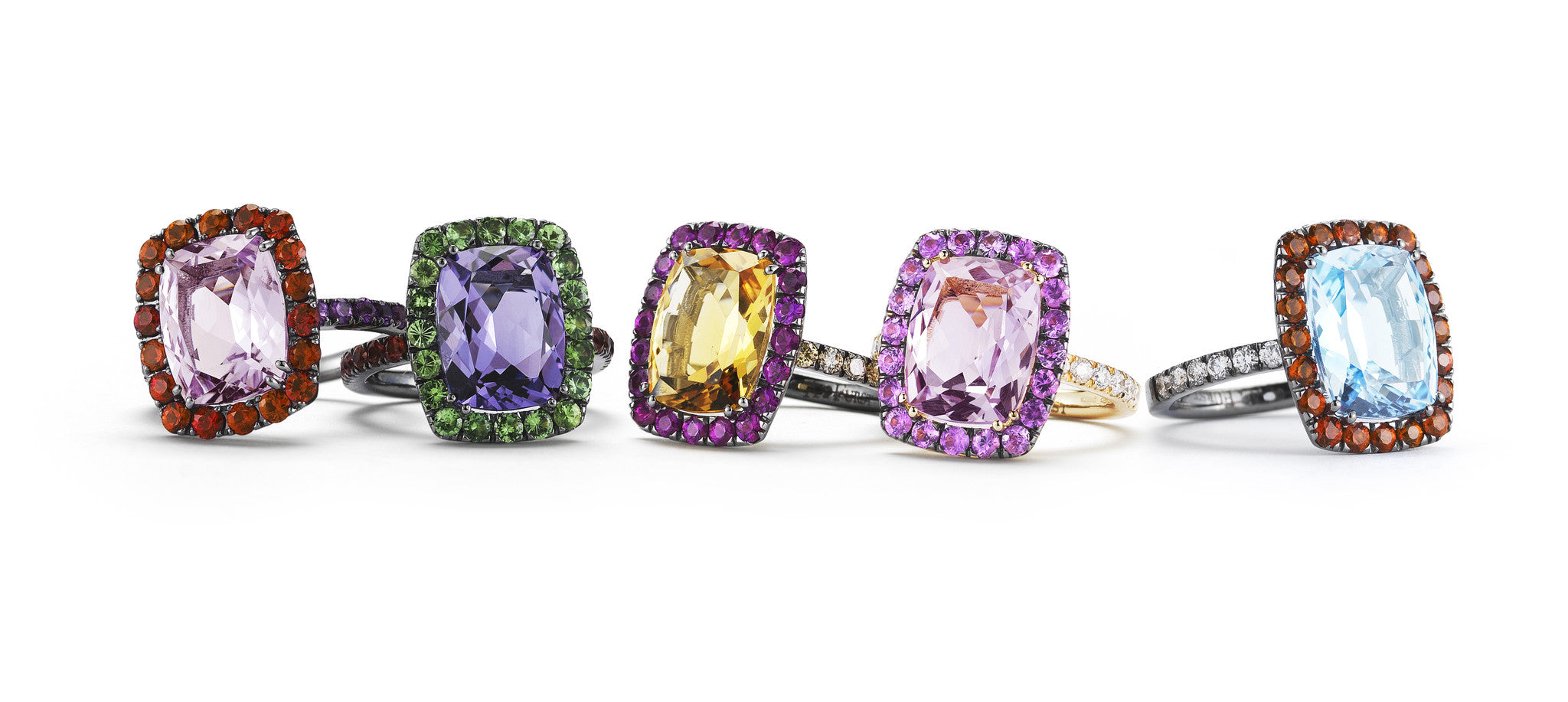 A-FURST-DYNAMITE-5-COCKTAIL-RINGS-ROSE-DE-FRANCE-AMETHYST-CITRINE-ROSE-DE-FRANCE-BLUE-TOPAZ