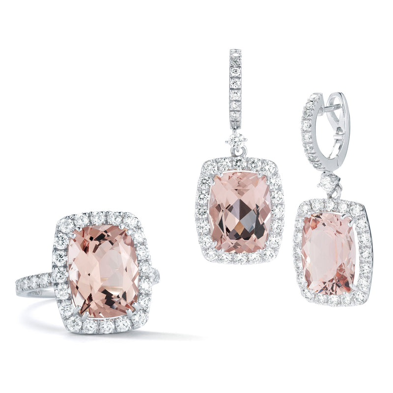 A-FURST-DYNAMITE-RING-DROP-EARRINGS-MORGANITE-DIAMONDS-WHITE-GOLD-MADE-IN-ITALY-AF-JEWELERS
