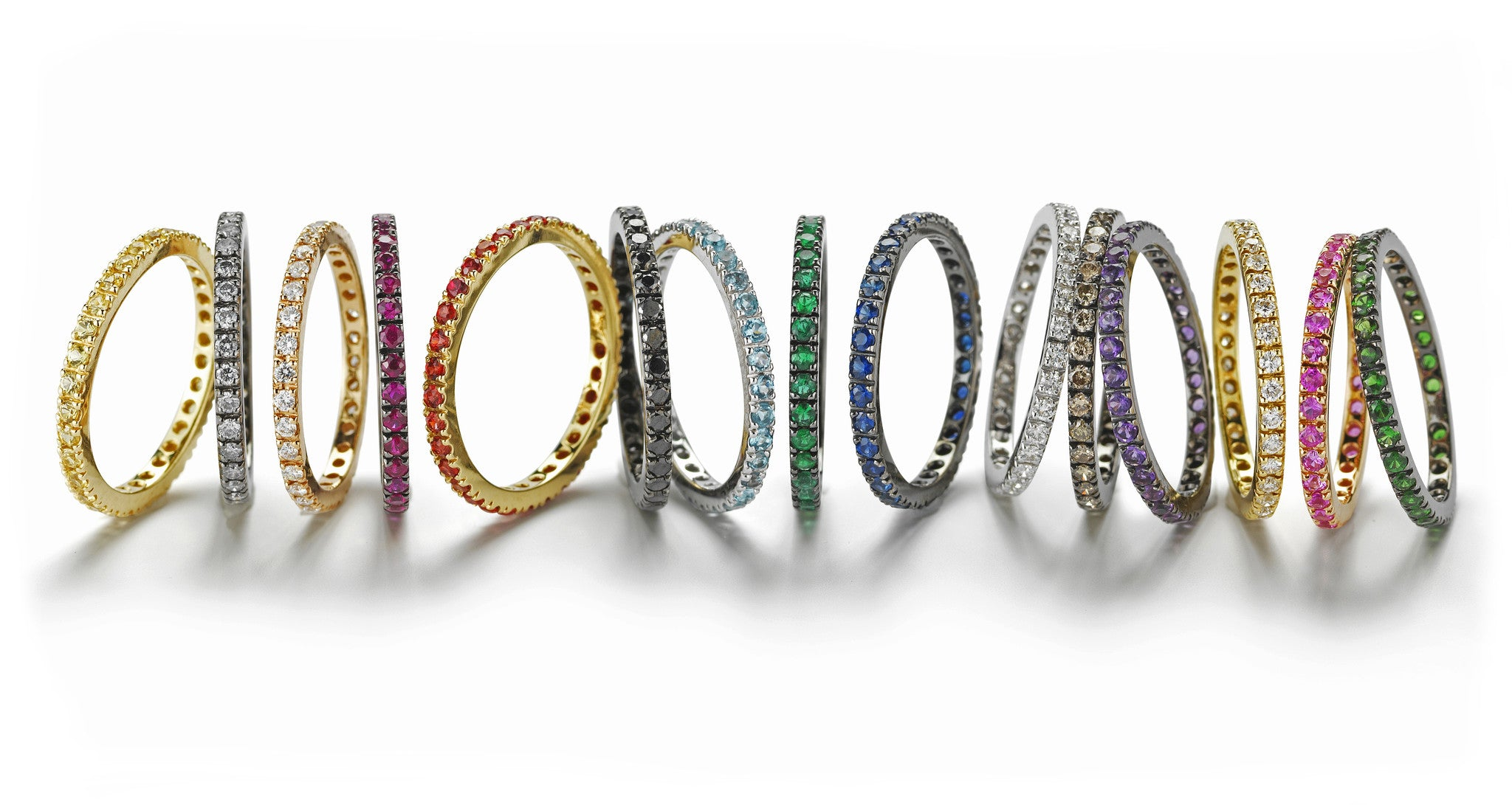 A-FURST-FRANCE-MULTICOLOR-ETERNITY-BAND-RINGS