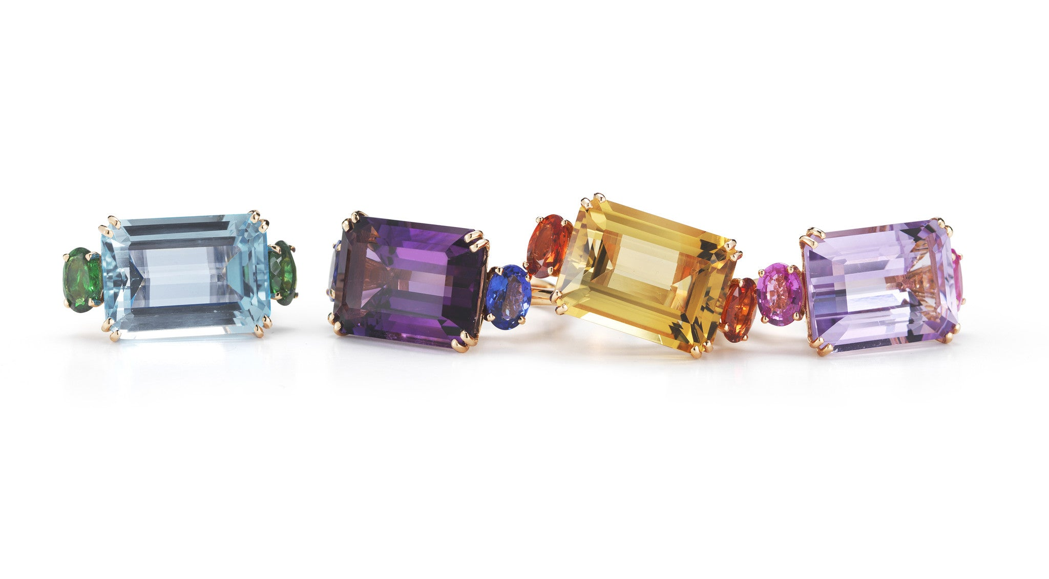 A-&-FURST-PARY-COCKTAIL-RINGS-BLUE-TOPAZ-AMETHYST-CITRINE-ROSE-DE-FRANCE