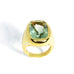 Essential - Cocktail Ring with Prasiolite, 18k Yellow Gold
